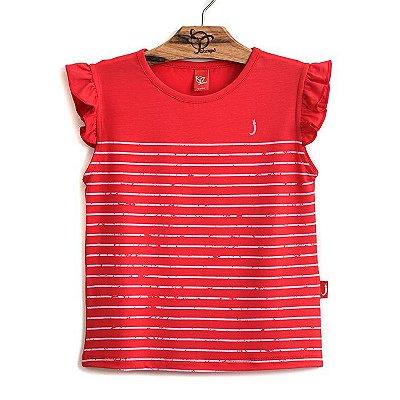 Blusa Infantil Listrinhas Vermelho/Rosa