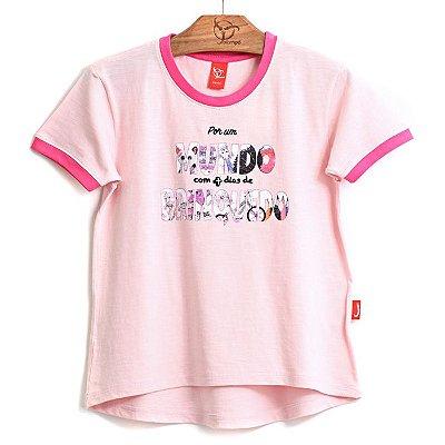 Blusa Jokenpô Infantil Mundo Rosa Claro