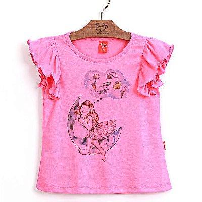 Blusa Infantil Sonhos Rosa