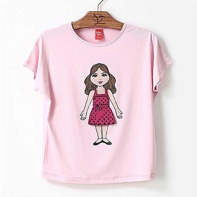 Blusa Infantil Vestidos Rosa