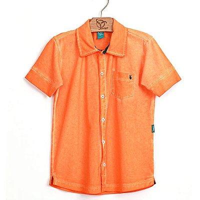 Camisa Infantil Malha Laranja