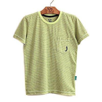 Camiseta Jokenpô Infantil Bolso Amarela
