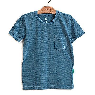 Camiseta Jokenpô Infantil Bolso Azul