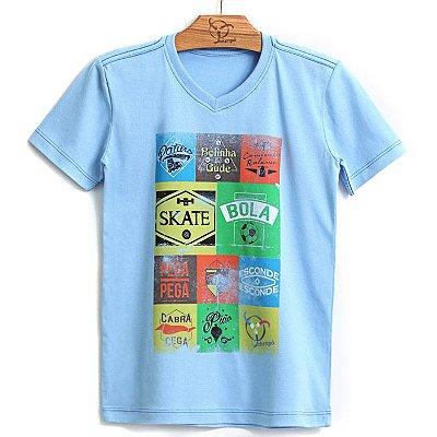 Camiseta Jokenpô Infantil Brincadeiras