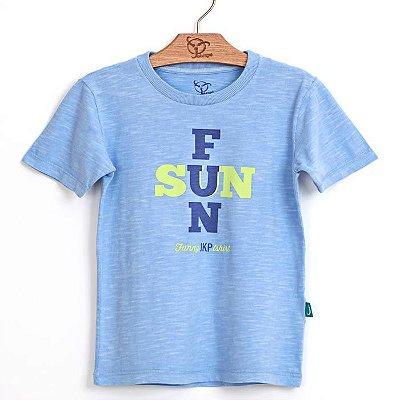 Camiseta Infantil Fun Azul