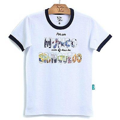 Camiseta Infantil Mundo Branca