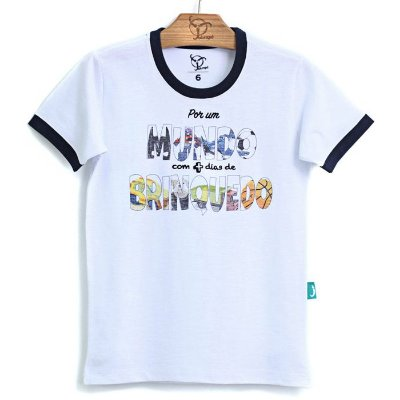 Camiseta Jokenpô Infantil Mundo Branca