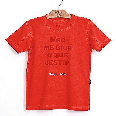 Camiseta Jokenpô Infantil Não Me Diga Vermelha