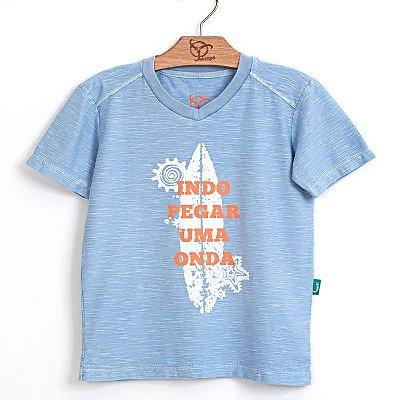 Camiseta Jokenpô Infantil Onda Azul