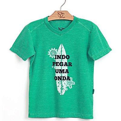 Camiseta Jokenpô Infantil Onda Verde