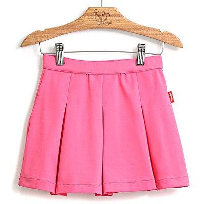 Saia Infantil Pregas Pink