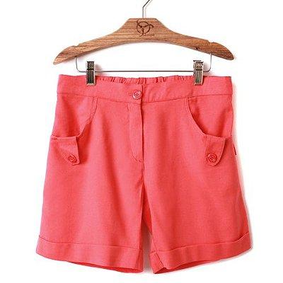 Shorts Infantil Linho Coral