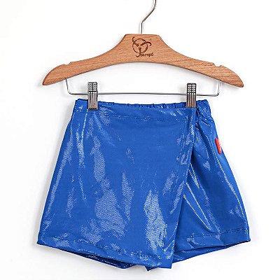Shorts Saia Infantil Azul