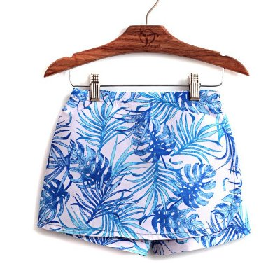Shorts Saia Infantil Praia Folhagem