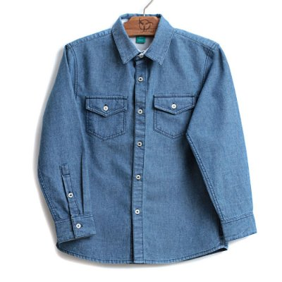 Camisa Infantil Jeans Azul