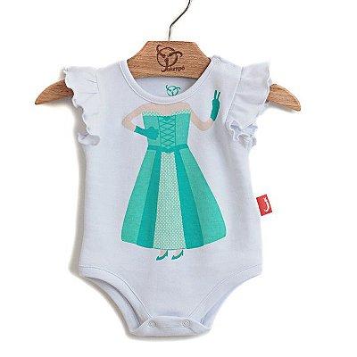 Body Bebê Princesa Branco