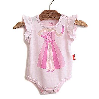 Body Jokenpô Bebê Princesa Rosa