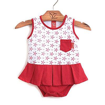 Body Bebê Estrelinhas Vermelho