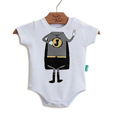 Body Bebê Super Jok Bco/Cinza