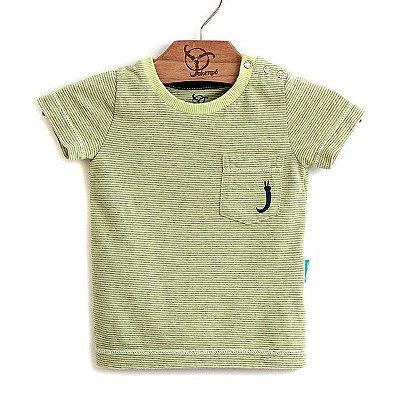 Camiseta Bebê Bolso Amarelo