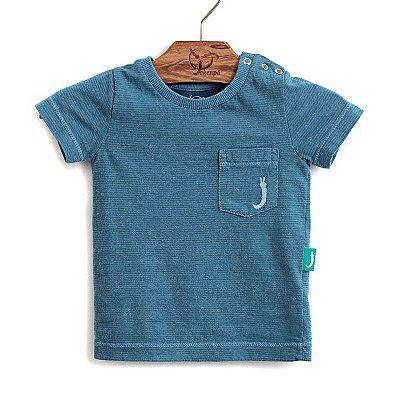 Camiseta Jokenpô Bebê Bolso Azul