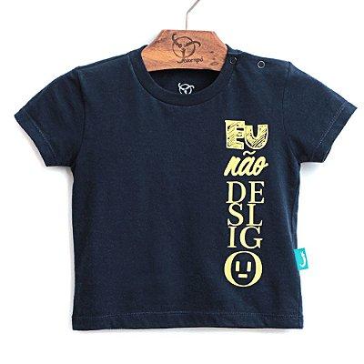 Camiseta Jokenpô Bebê Desligo Marinho