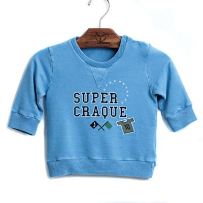 Blusa Bebê Super Craque Azul