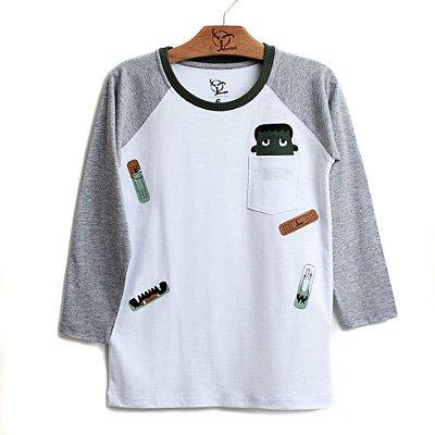 Camiseta Jokenpô Infantil Band - Aid Branca