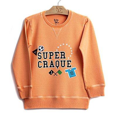 Blusa Jokenpô Infantil Super Craque Laranja