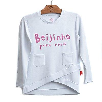 Blusa Infantil Beijinho Branca