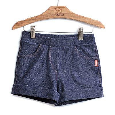 Shorts Infantil Malha Jeans