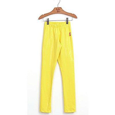 Legging Infantil Brilho Filha Amarelo