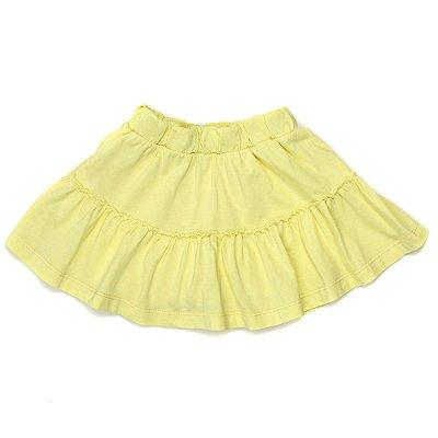 Saia Shorts Jokenpô Infantil Babado Amarelo