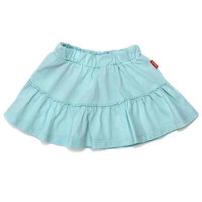 Saia Jokenpô Shorts Infantil Babado Verde Agua