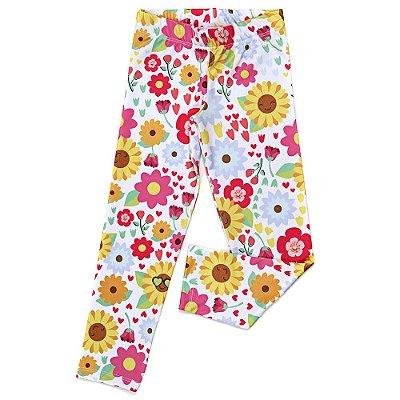 Legging Jokenpô Infantil Floral Girassol