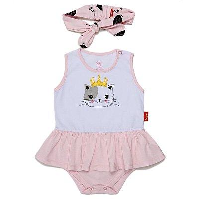 Vestido Jokenpô Bebê Gatinha com Faixa