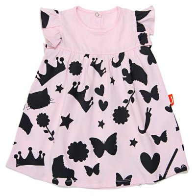 Vestido Jokenpô Bebê Sombras Rosa com Calcinha