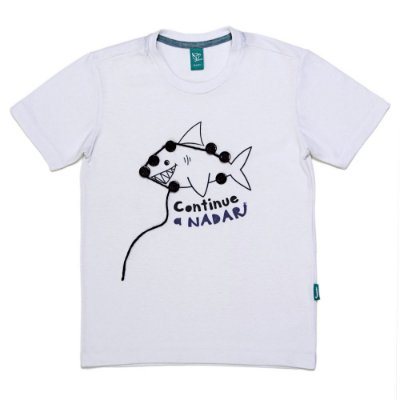 Camiseta Jokenpô Infantil Tubarão