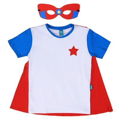 Camiseta Jokenpô Infantil Capa Herói