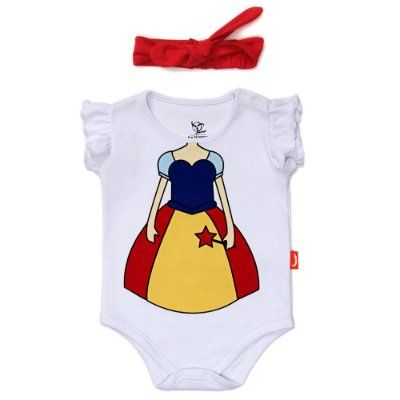 Body Jokenpô Bebê Fada com Faixa