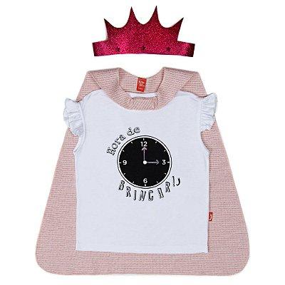 Blusa Jokenpô Infantil com Coroa e Capa