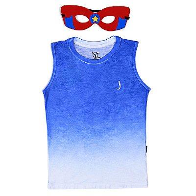 Regata Jokenpô Infantil Azul Máscara Vermelha