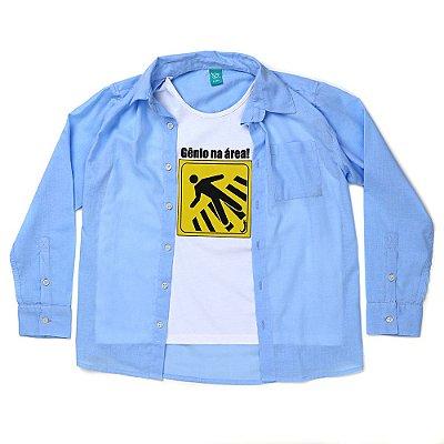 Camisa Jokenpô Infantil Gênio Azul