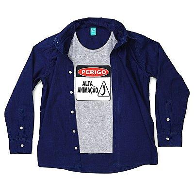 Camisa Jokenpô Infantil Perigo Marinho e Mescla