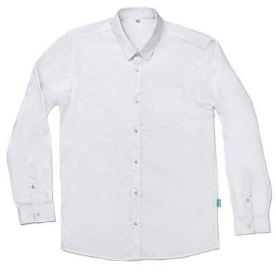 Camisa Jokenpô Casual Tricoline Branca Masculina