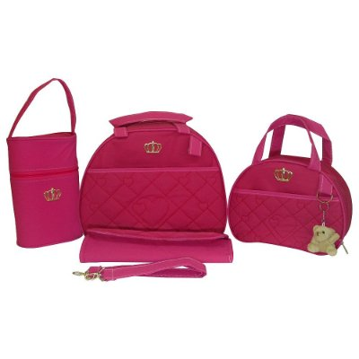 Kit Bolsa Maternidade Jokenpô / Ludy Baby Coroa Pink