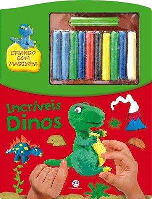 Livro Incríveis Dinos - Criando Com Massinha