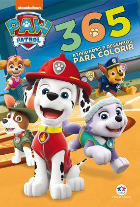 Livro Patrulha Canina - 365 Atividades e Desenhos para Colorir