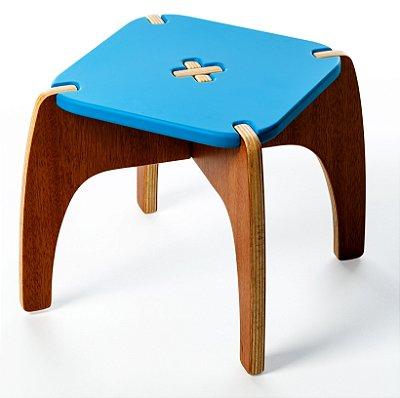 Banquinho Jokenpô/Tauga Infantil Fun Azul