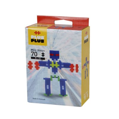 Brinquedo Infantil Jokenpô/Steam Toy Neon Robots 70 pcs